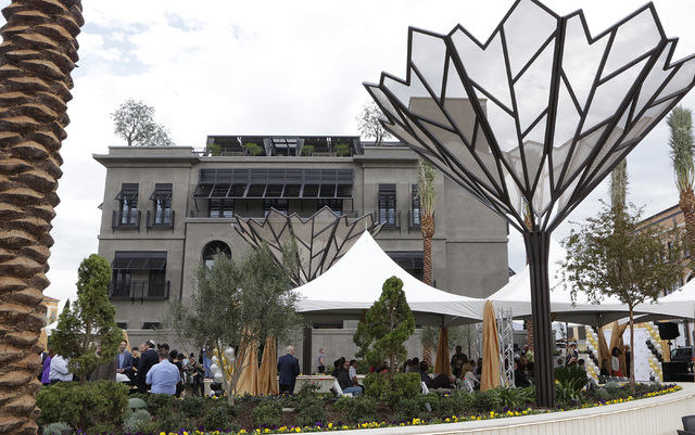 Nevada's first Restoration Hardware is seen during the ribbon-cutting for the opening of Tivoli Village's second phase Friday, Oct. 28, 2016, in Las Vegas. The second phase added more than 270,000 ...