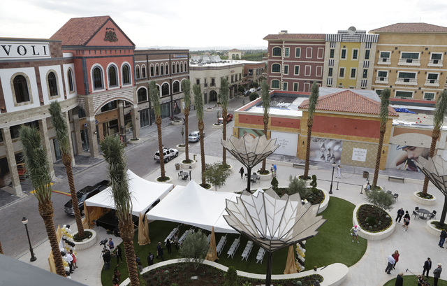Tivoli Village is seen after the ribbon-cutting for the opening of its second phase Friday, Oct. 28, 2016, in Las Vegas. The second phase added more than 270,000 square feet of retail, restaurant, ...