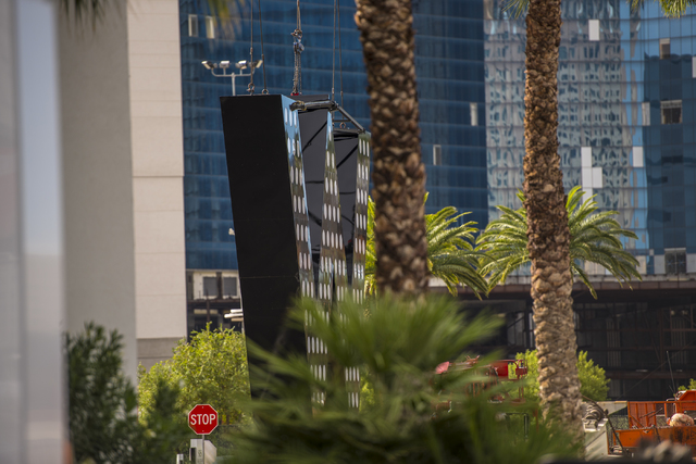 The sign for the new W Hotel is seen at the SLS hotel-casino in Las Vegas on Friday, Oct. 14, 2016. Joshua Dahl/Las Vegas Review-Journal