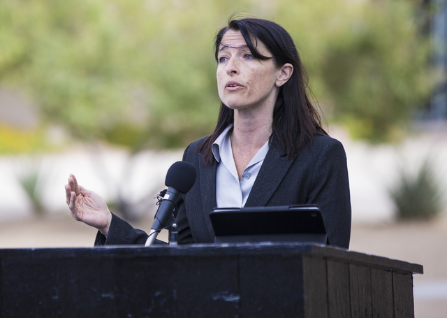 Laura Granier, council for the Nevada Connections Academy, announces the charter schools intention to take legal action against the Nevada State Charter School Authority to fight against it's clos ...