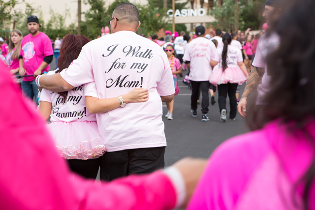 COURTESY AMERICAN CANCER SOCIETY The American Cancer Society Making Strides Against Breast Cancer walk will be held Oct. 30 at Red Rock Casino Resort.