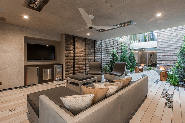 The 2016 New American Home featured at the January International Builders Show was designed with outdoor-indoor spaces. (Courtesy)