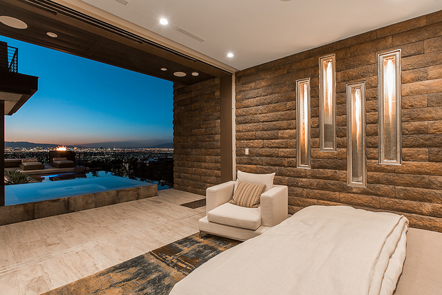 The master suite opens to the pool. (Courtesy)