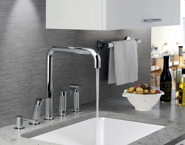 COURTESY WATERMARK DESIGNS Tod Is A Kitchen Faucet That Incorporates Linear  Valve Technology Into The Handles