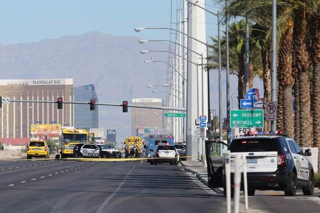 Metro is investigating an incident at a CVS Pharmacy at Las Vegas Boulevard South and Windmill/Blue Diamond Road in south Las Vegas that may be related to a shooting on Interstate 15 near Spring M ...