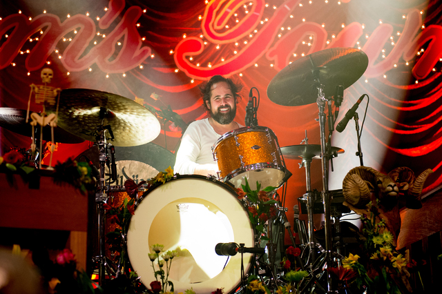 """Ronnie Vannucci and The Killers perform Friday at Sam's Town Live to celebrate the 10th anniversary of their sophomore album, """"Sam's Town."""" (Courtesy Rob Loud)"""
