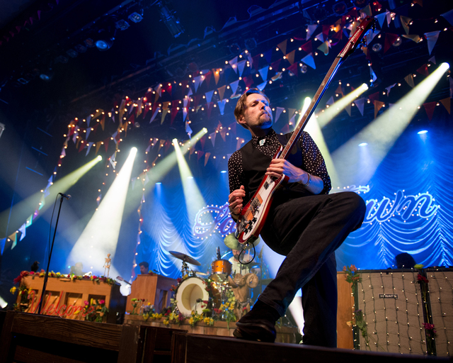 """Mark Stoermer and The Killers perform Friday at Sam's Town Live to celebrate the 10th anniversary of their sophomore album, """"Sam's Town."""" (Courtesy Rob Loud)"""