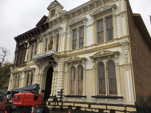 The historic Storey County Courthouse in Virginia City was completed in 1877 and is seen on Friday, Oct. 28, 2016. Sean Whaley/Las Vegas Review-Journal