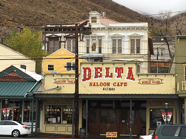 The historic Storey County Courthouse in Virginia City can be seen above the Delta Saloon on Friday, Oct. 28, 2016. Sean Whaley/Las Vegas Review-Journal