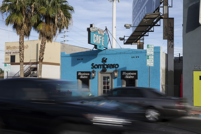 El Sombrero Mexican Bistro is seen on Friday, Oct. 7, 2016, in Las Vegas. The restaurant hosted Republican presidential nominee Donald Trump and other Latino business owners on Wednesday. (Erik Ve ...