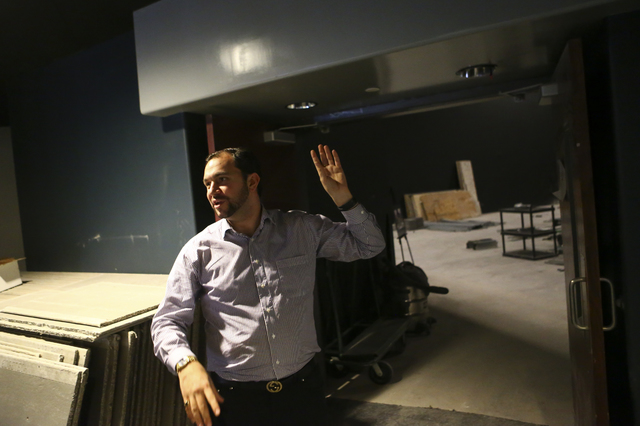 Nick Fotheringham, vice president of content and development at Millenial Esports, talks about a yet-unnamed e-sports arena venue under construction at Neonopolis in downtown Las Vegas on Wednesda ...