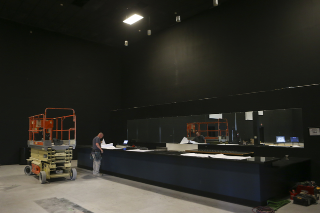 Construction goes on at a yet-unnamed e-sports arena venue at Neonopolis in downtown Las Vegas on Wednesday, Oct. 26, 2016. Chase Stevens/Las Vegas Review-Journal Follow @csstevensphoto