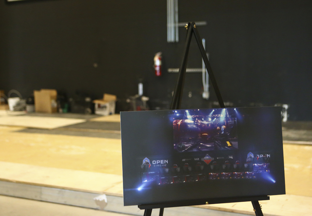 An interior rendering is shown of a yet-unnamed e-sports arena venue under construction at Neonopolis in downtown Las Vegas on Wednesday, Oct. 26, 2016. Chase Stevens/Las Vegas Review-Journal Foll ...