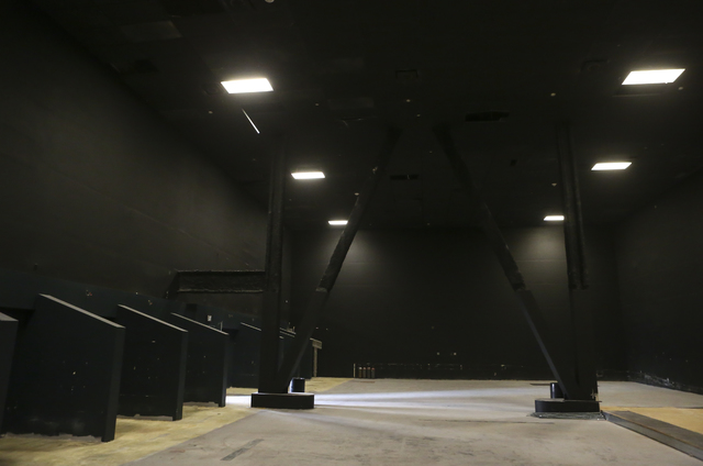 The interior of a yet-unnamed e-sports arena venue under construction is shown at Neonopolis in downtown Las Vegas on Wednesday, Oct. 26, 2016. Chase Stevens/Las Vegas Review-Journal Follow @csste ...