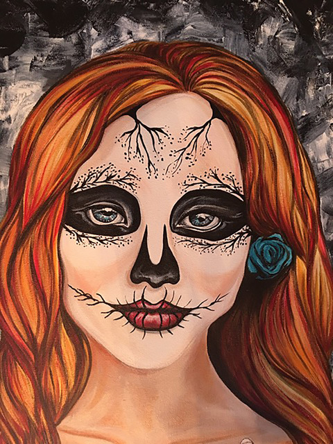 """""""Revenge of the Dead"""" with paintings by Mandy Joy is set to be on display at Jana's RedRoom inside the Arts Factory, 107 E. Charleston Blvd.. Oct. 7. Visit pawcassolv.org or janasredroom.com ..."""