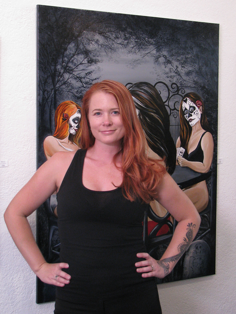 """Mandy Joy's """"Revenge of the Dead"""" is one of several art shows in the valley that use imagery from the Day of the Dead. Her work is on display at Jana's RedRoom in The Arts Factory, 107 E. Char ..."""