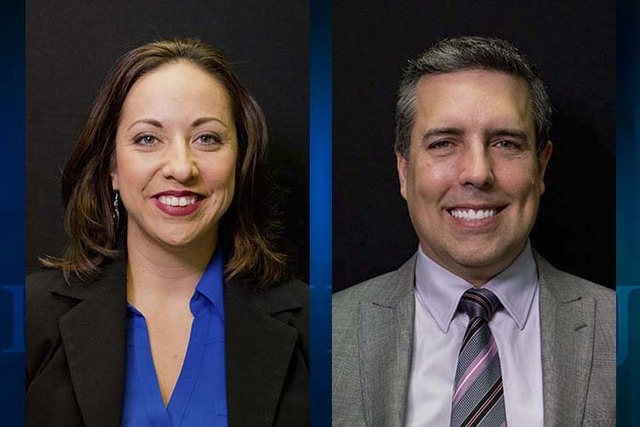 Felicia Ortiz and Dave Hales, candidates for State Board of Education District 3 (Las Vegas Review-Journal)