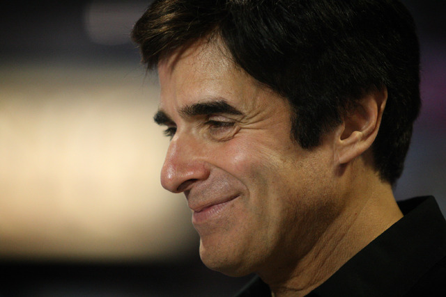 Magician David Copperfield is seen at the G2E convention in Las Vegas Tuesday, Sep. 24, 2013. (Jessica Ebelhar/Las Vegas Review-Journal)