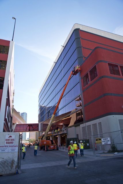 Construction continues at the Lucky Dragon hotel-casino on Sahara Avenue near the Strip on Wednesday, Oct. 19, 2016, in Las Vegas. Daniel Clark/Las Vegas Review-Journal Follow @DanJClarkPhoto