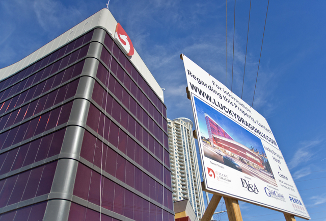 Construction continues at the Lucky Dragon hotel-casino on Sahara Avenue near the Strip on Wednesday, Oct. 19, 2016, in Las Vegas. (Daniel Clark/Las Vegas Review-Journal Follow @DanJClarkPhoto)