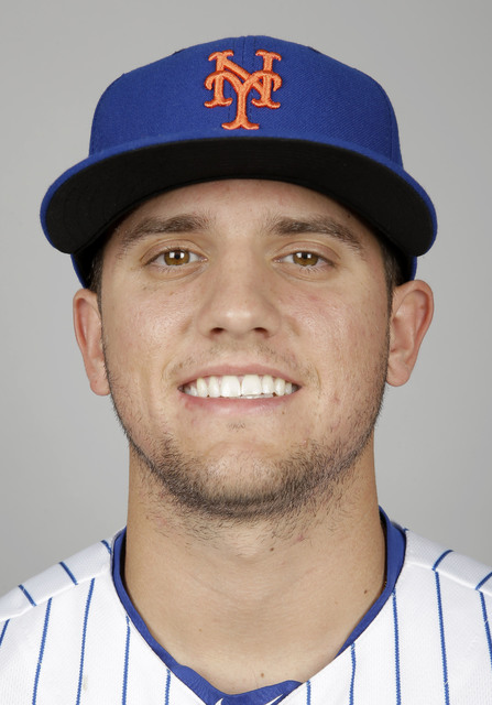 This is a 2016 photo of Gavin Cecchini of the New York Mets baseball team.  This image reflects the Mets active roster as of Tuesday, March 1, 2016, when this image was taken. (AP Photo/Jeff Roberson)