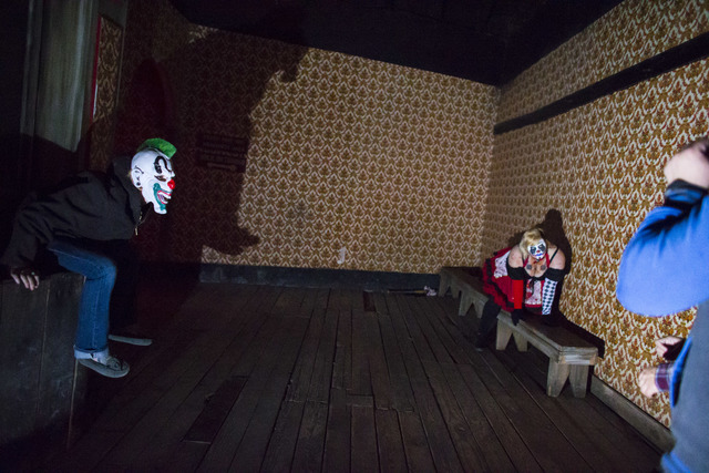 """Visitors walk through an attraction during """"Bonnie Screams"""" at Bonnie Springs Ranch outside of Las Vegas on Tuesday, Oct. 25, 2016. Chase Stevens/Las Vegas Review-Journal Follow  ..."""