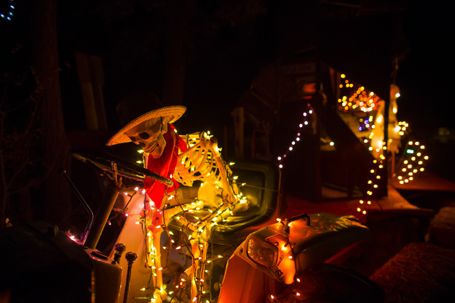 """Decorations are shown during """"Bonnie Screams"""" at Bonnie Springs Ranch outside of Las Vegas on Tuesday, Oct. 25, 2016. (Chase Stevens/Las Vegas Review-Journal Follow @csstevensphoto)"""