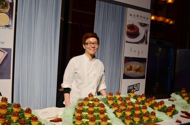 Kyurim Lee, from the Aria, presented her Dessert Before Dinner dish during the annual Girl Scouts of Southern Nevada gala Sept. 10 at Caesars Palace. Ginger Meurer/Special to View