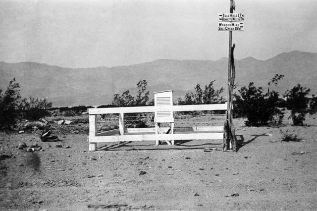 This oldest known photo of the weather station at Death Valley's Greenland Ranch, near present day Furnace Creek, California, was taken sometime before 1922. (National Weather Service Las Vegas)