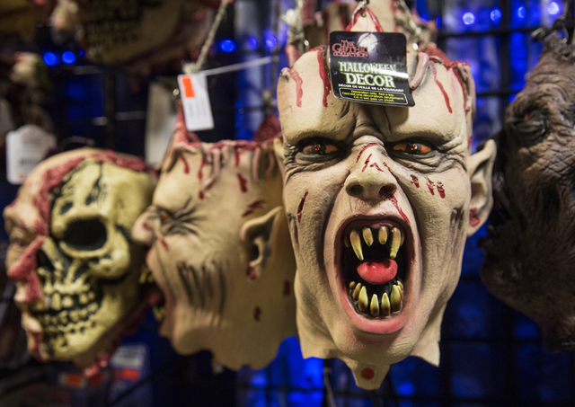 Masks at HalloweenMart Sept. 29, 2016, in Las Vegas. Benjamin Hager/View