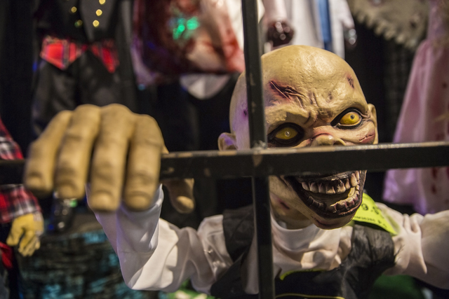 A decorative goblin at HalloweenMart Sept. 29, 2016, in Las Vegas. Benjamin Hager/View