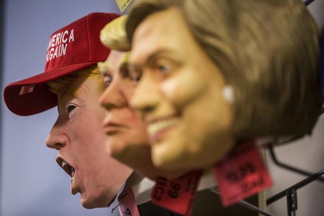 A Donald Trump mask at HalloweenMart Sept. 29, 2016, in Las Vegas. Benjamin Hager/View