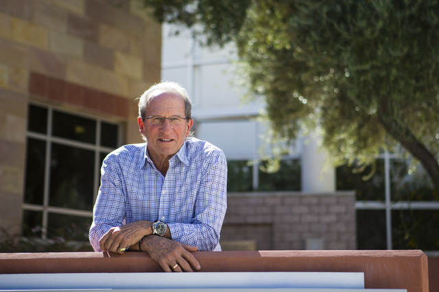 Michael Saltman, managing general partner and president of The Vista Group, poses for a photo outside of the William S. Boyd School of Law at UNLV in Las Vegas on Tuesday, Oct. 11, 2016. Chase Ste ...