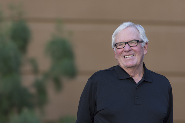 Las Vegas NHL franchise Owner Bill Foley appears on stage during the Vegas Hockey Fan Fest at Toshiba Plaza in Las Vegas, Saturday, Oct. 8, 2016. Jason Ogulnik/Las Vegas Review-Journal