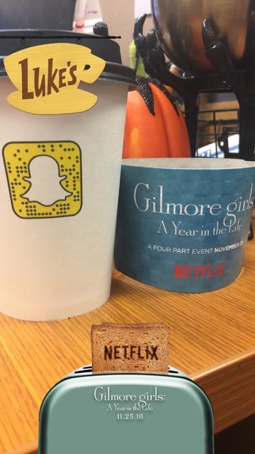Snapchat created a custom Luke's Diner filter for the Gilmore Girls pop-up. (Janna Karel/Las Vegas-Review Journal)