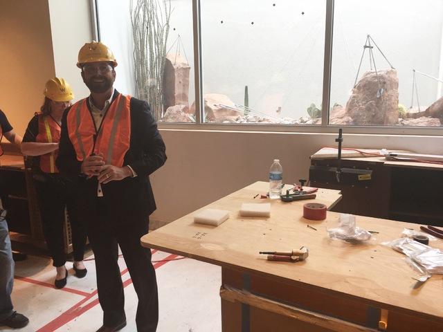 W Las Vegas General Manager during a walk-through of the W Las Vegas hotel on Oct. 14, 2016. (Photo by John Katsilometes/Las Vegas Review-Journal)