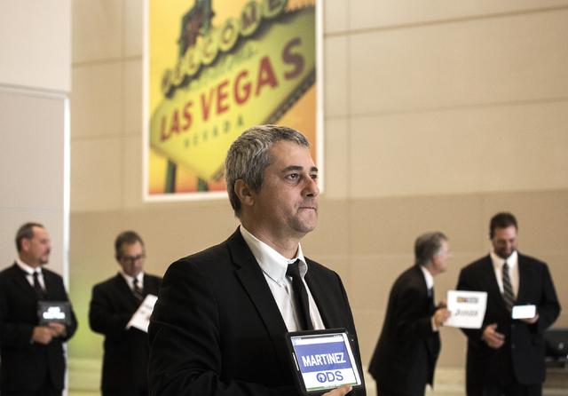 Driver Sorin Cotei waits for a passenger arriving on Terminal 3 at McCarran International Airport on Friday, Sept. 02, 2016. Jeff Scheid/Las Vegas Review-Journal Follow @jeffscheid