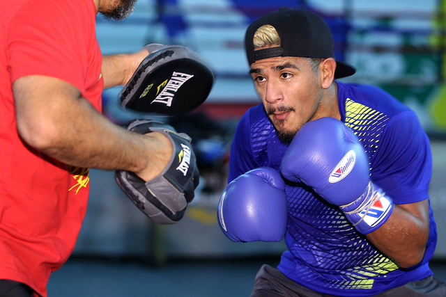Jessie Magdaleno faces Nonito Donaire for the WBO junior featherweight belt on Nov. 5 at the Thomas & Mack Center. (Mikey Williams)