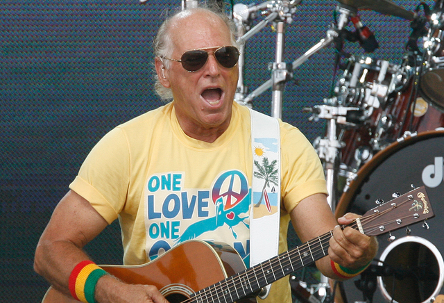 Jimmy Buffett performs in Gulf Shores, Ala., on July 11, 2010. (Chip English/AP)