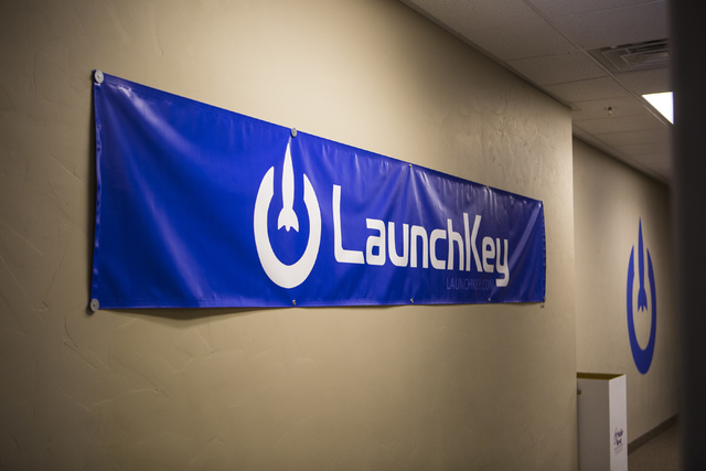 The interior of LaunchKey, a Las Vegas-based technology company that was recently acquired by Portland, Oregon-based iovation, is seen on Friday, Oct. 14, 2016. (Miranda Alam/Las Vegas Review-Jour ...