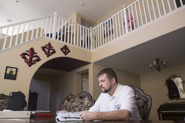 Maxwell Alexander Drake looks over his restoration of SnarfQuest at his home in North Las Vegas on Thursday, Oct. 6, 2016. He successfully crowdfunded the project in 2014. (Loren Townsley/Las Vega ...
