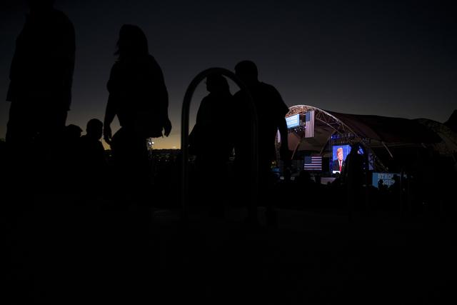 People attend the Hillary for NevadaDebate Watch Party at Craig Ranch Regional Park on Wednesday, Oct. 19, 2016, in North Las Vegas. Erik Verduzco/Las Vegas Review-Journal Follow @Erik_Verduzco