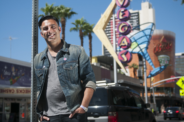 Rehan Choudhry, founder of Life is Beautiful Festival, poses for a photograph near his office on Fremont Street, Saturday, Sept. 21, 2013, in Las Vegas, Nev. (Erik Verduzco/ Las Vegas Review-Journal)