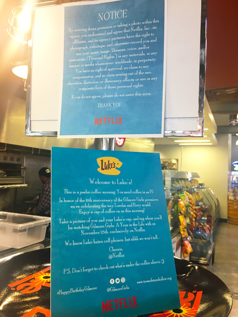 Bronze Cafe at the Market transformed into Luke's Diner as part of Netflix's promotion for the Gilmore Girls revival. (Janna Karel/Las Vegas-Review Journal)