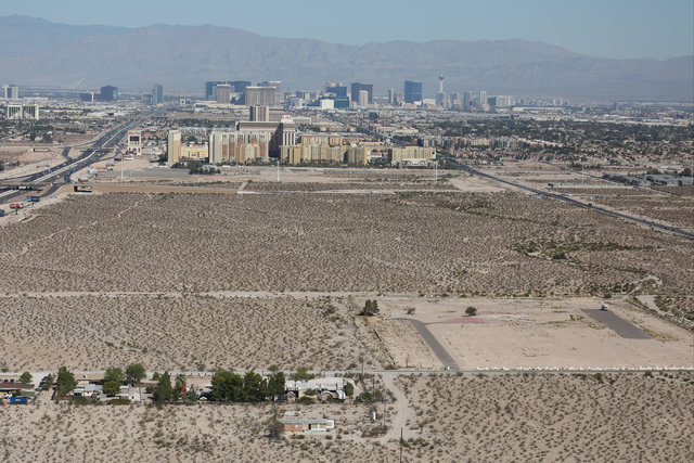 Massive lots for sale south of the Strip in Las Vegas and east of Interstate 15 are seen on Monday, Sept. 26, 2016. Brett Le Blanc/Las Vegas Review-Journal Follow @bleblancphoto