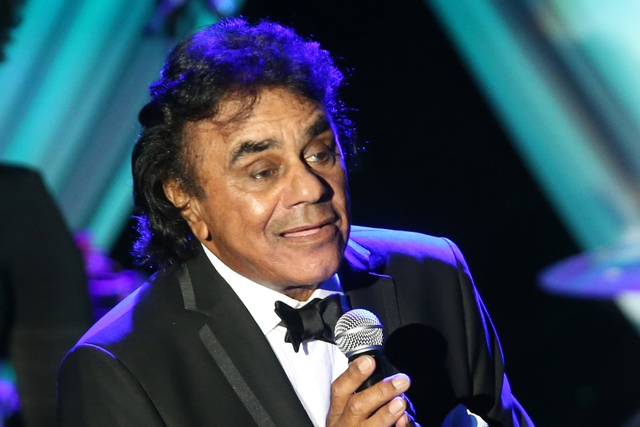Johnny Mathis performs on stage the 2015 Clive Davis Pre-Grammy Gala show at the Beverly Hilton Hotel on Saturday, Feb. 7, 2015, in Beverly Hills, Calif. (Photo by Paul Hebert/Invision/AP)