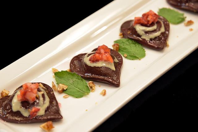 Chocolate ravioli (courtesy D. Vino Italian Food & Wine Bar)