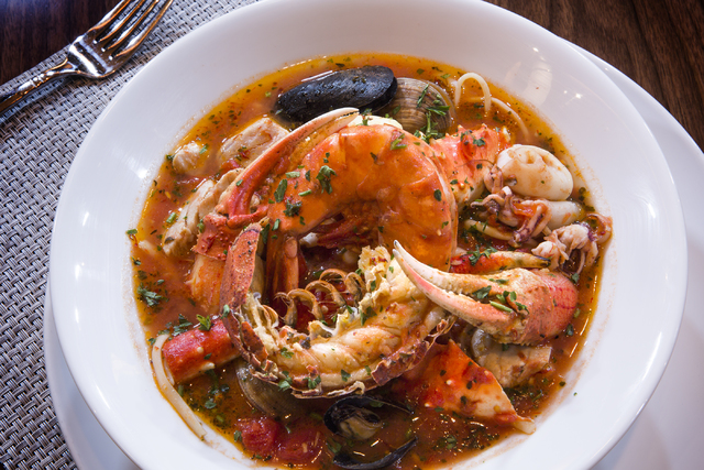 Seafood Fra Diavolo served at Redwood Grill in the California Hotel in downtown Las Vegas is seen, Friday, Oct. 7, 2016. Jeff Scheid/Las Vegas Review-Journal Follow @jeffscheid