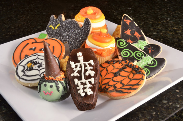 A selection of Halloween pastries is shown at the Grand Cafe in the Santa Fe Station hotel-casino at 4949 N. Rancho Drive in Las Vegas on Friday, Oct. 21, 2016. Bill Hughes/Las Vegas Review-Journal