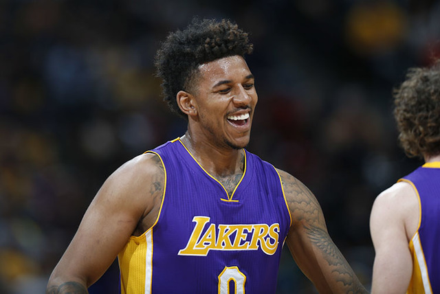 Los Angeles Lakers forward Nick Young, seen in March. (David Zalubowski/The Associated Press)